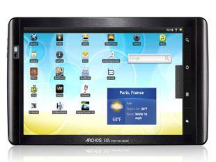 Archos 101 internet tablet (a kép nagyítható)