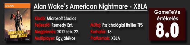 Alan Wake's American Nightmare XBLA
